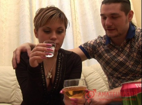 Tanya Russian Girl Drinks Vodka and gets Fucked