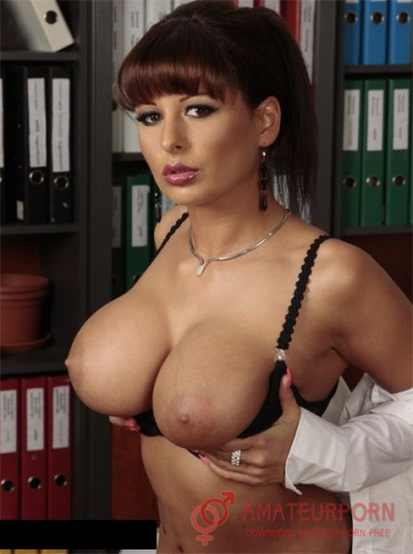 Alison Star Fuck Hot Secretary With Big Tits