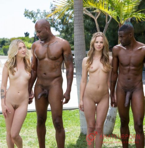 Jillian Janson Karla Kush Interracial Foursome For Two Beautiful Blonde Girls