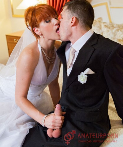 Lucy Bell Redheaded Bride Fuck With Groom And Jis Friend