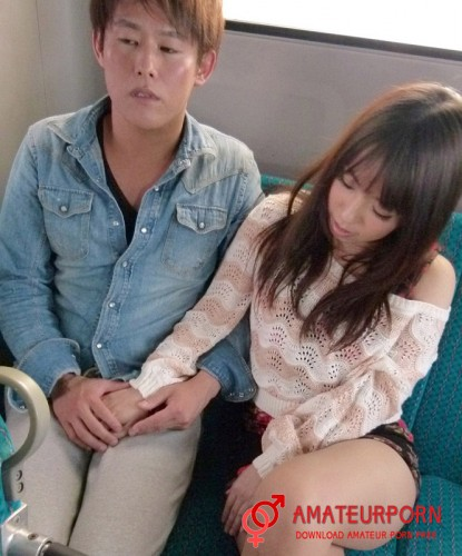 Chinatsu Kurusu Japanese Girl Public Fuck In The Bus