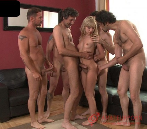 Sasha Rose Hot Little Blonde Teen  Gang Banged