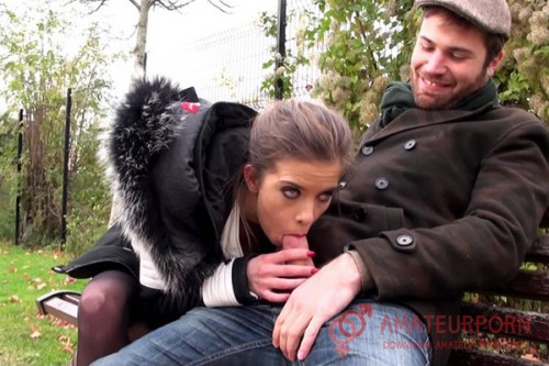 Camille Public Blowjob And Gang Bang From France
