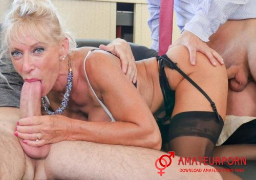 Marina Beaulieu Mature Teacher Gang Bang Threesome