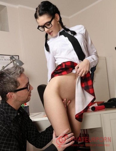 Anie Darling Naughty Schoolgirl  In Glasses