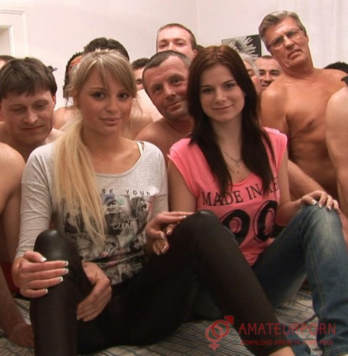 Veronika and Charlotte Orgy Creampie With Two Young Girls