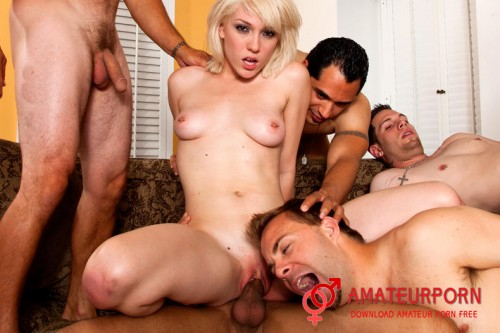 Amateur Biggest Forced-Bi Gangbang