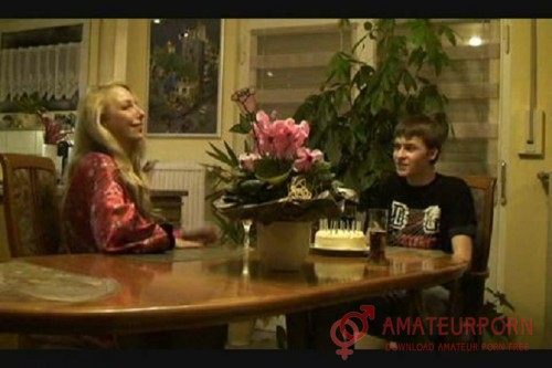 Amateur German StepMom With StepSon