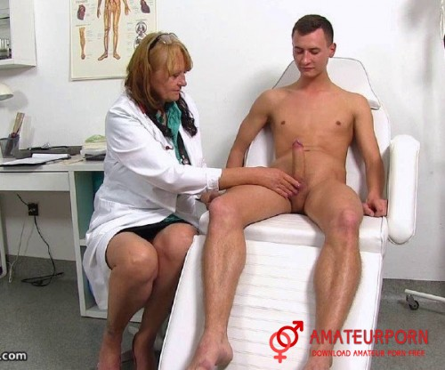 Glenda Mature Doctor Checks Young Patient Penis
