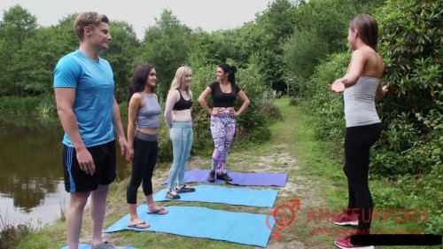 Emma Leigh, Lola Rae, Satine Spark, Tina Kay Outdoor Yoga Sex