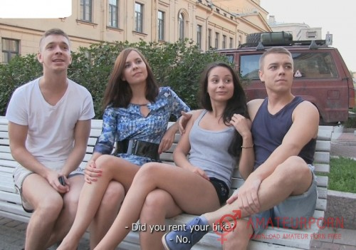 Aria and Nicole Russian Teen Try Swinger Sex