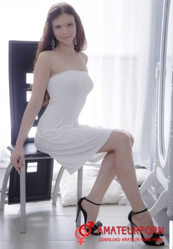 Margarita C Beautiful Sex With Young Girl In White Dress
