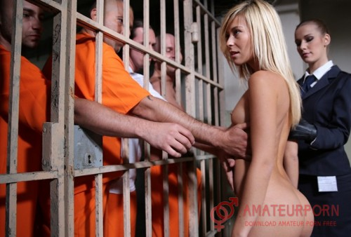 Lola Reve and Alexis Crystal Group Sex In Jail