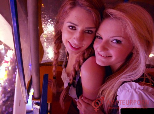 Hope Harper and Joseline Kelly Two Young Girlfriends For The First Time In A Disco