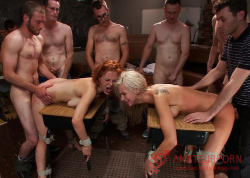 Kaylee Hilton and Clayra Beau New College Girl BDSM Fuck